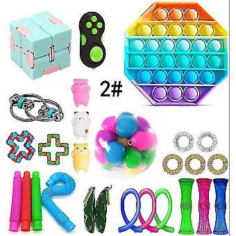 Aistifidget lelut nippu stressiä helpottavat fidget lelut asetettu pl-413
