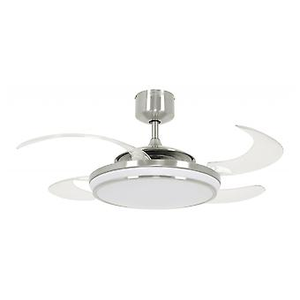 Retractable ceiling fan Fanaway LED EVO1 Brushed Chrome