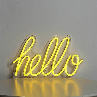 Hei Neon Merkki Joustava Neon Valo Tervehdykset
