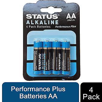 Status Alcaline Performance Plus Baterii AA
