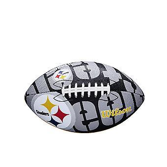 Wilson NFL Team Logo Football américain Steelers de Pittsburgh - Junior