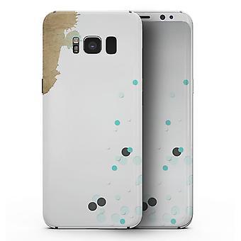 Gold foliert weiß V3 - Samsung Galaxy S8 Ganzkörper Haut Kit