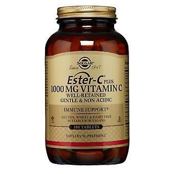 Solgar Ester-C + C-vitamin (Ester-C Ascorbate Complex), 1000mg, 180 Tabs