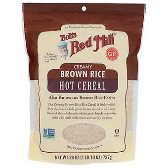 Bobs Red Mill Cereal Hot Brwn Rice, Fodral på 4 X 26 Oz