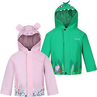 Regatta Unisex Childrens Kids Peppa Pig Waterproof Animal Outdoor Jacket Coat