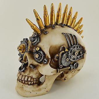 Figurilla biónica del cráneo del mowhawk de la bala
