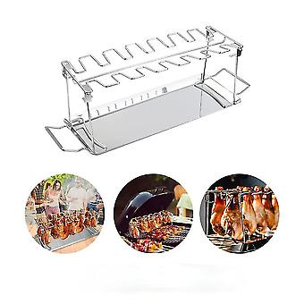 Chicken Leg Wing Grill Rack 14 Slots BBQ Stainless Steel Barbecue Drumsticks Holder Smoker Oven
