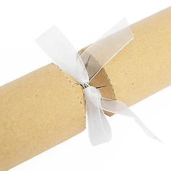 16 Galletas prefase hechas - Arcos de regalo - Organza Blanca