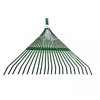 Garden Rake, Adjustable Lightweight Steel Poly Shrub Rake,  22 Tines(Green)