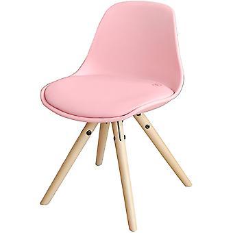SoBuy Krzesło dziecięce PU Leather Wyściełane siedzisko Różowy, FST46-P