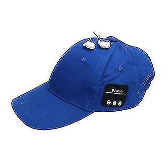 Capuchon Bluetooth sans fil, casquette de baseball de protection solaire extérieure (bleu)