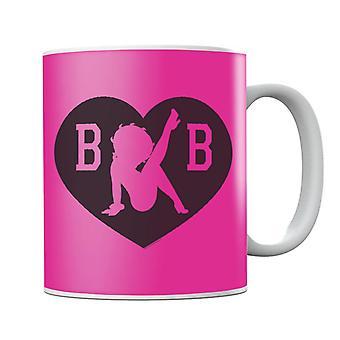 Betty Boop B B Silhouette Love Heart Mug