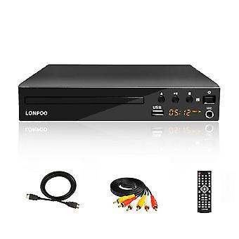 Mini Usb Rca DVD-soittimen alue Osd Languages Divx Dvd Cd Rw Player