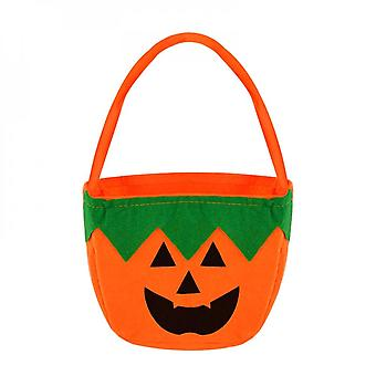 1pc Halloween Loot Party Kids Pumpkin Trick Or Treat Tote Bags Candy Bag Halloween Candy Storage Bucket Portable Gift Basket