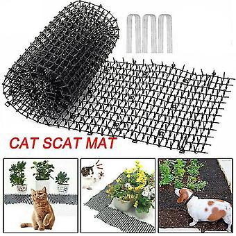 Plant herb growing kits garden cat scat mat pet dog repellent mat pp plastic spike keeping prickle strip