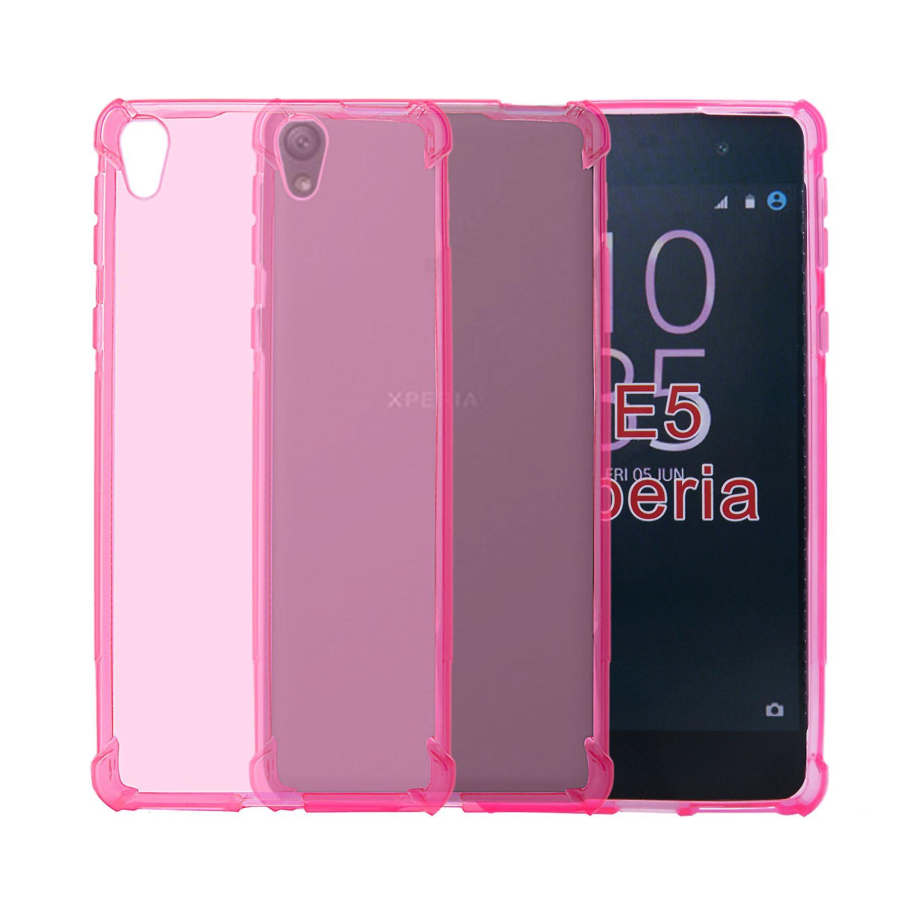 32nd Tough Gel case + stylus for Sony Xperia E5 - Hot Pink