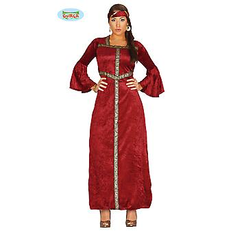 Red Renaissance Princess costume for women