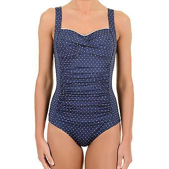 David Bri-Bri Pois Blue Polka Dot One Piece Balconette Swimsuit DA7-111