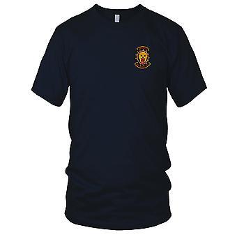 USAF Air Force 34th Tactical Group - Lion Vigilantes - Pilot Vietnam War Embroidered Patch - Mens T Shirt