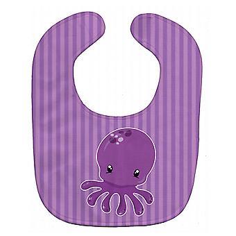 Carolines Treasures  BB8904BIB Nautical Purple Octopus Baby Bib
