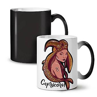 Capricorn NEW Black Colour Changing Tea Coffee Ceramic Mug 11 oz | Wellcoda