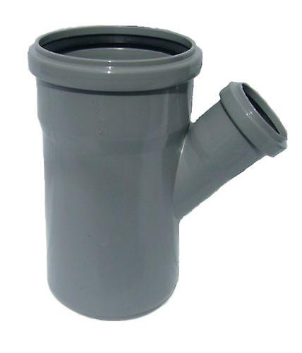 Soil Pipe 110 mm Branch With 45 degree 50 mm Inlet - Push-Fit Sewerage - Grey