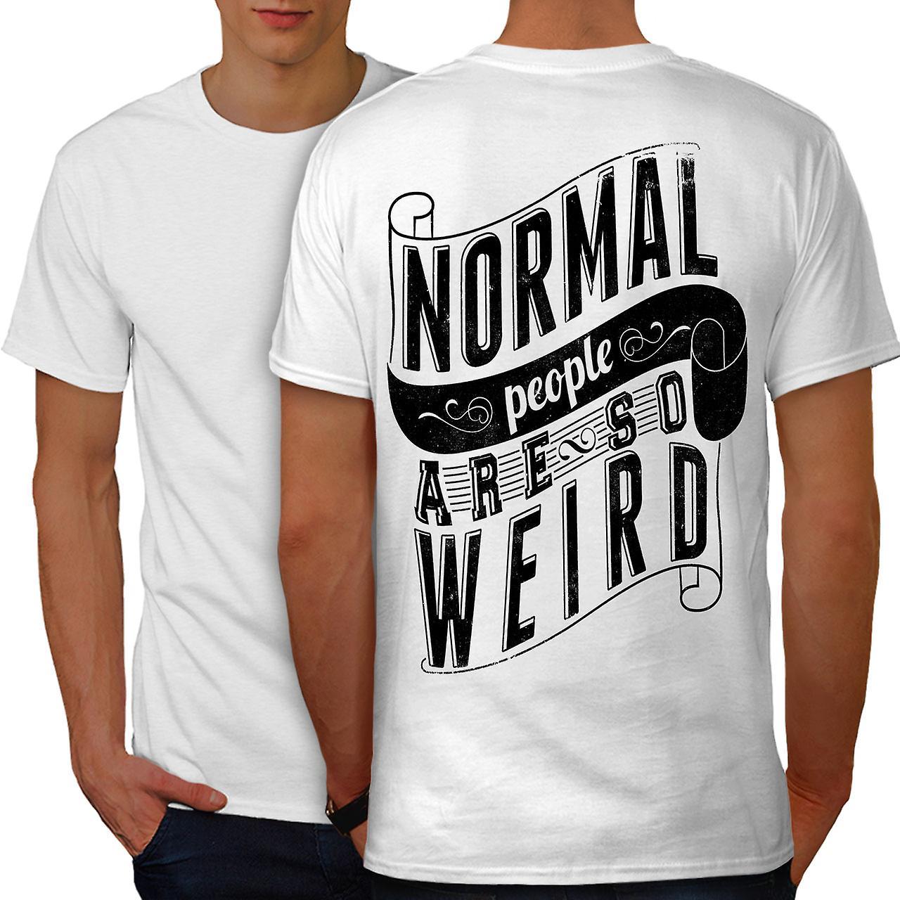 Normal er rare slagord WhiteT menn skjorte tilbake