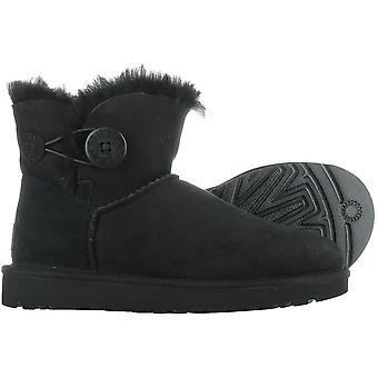 UGG Classic Mini Bailey Button Black 1016422BLK universal winter women shoes