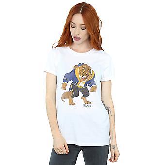 ディズニーの女性の美しさと獣の古典的な獣の彼氏がフィット t シャツ