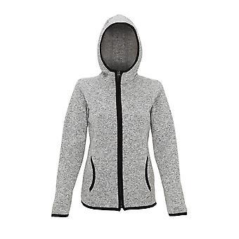Tri Dri Womens/Ladies Melange Knit Fleece Jacket
