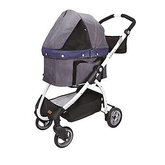 Ibiyaya Express Travel System Multi-Funktionel Pet Klapvogn Buggy, Denim