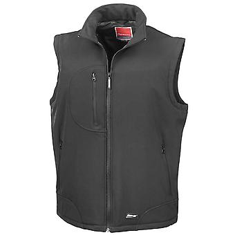 Result Mens Soft Shell Breathable Waterproof Windproof Bodywarmer Gilet
