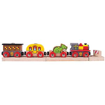 Bigjigs Rail Medieval Train Engine Locomotive Carriage Railway Accessory