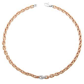 Orphelia Silver 925  Necklace Rose Links Zirc  ZK-7159