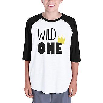 Wild yhden kruunun lapset söpö Raglan paita perheen Suoriteperusteiset lahjoitukset t-paita