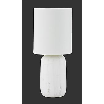 Trio de iluminação candeeiro de mesa cerâmica branca de argila moderno