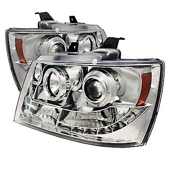 Spyder Auto Chevy Suburban 1500/2500/Chevy Tahoe/Avalanche Chrome Halogen Projector Headlight