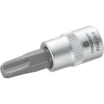 TOOLCRAFT 816055 Phillips Bit PH 4 1/4 de (pouce 6,3 mm)