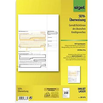 Sigel Bank transfer form SEPA-Überweisung A4 No. of sheets: 250 ZV572