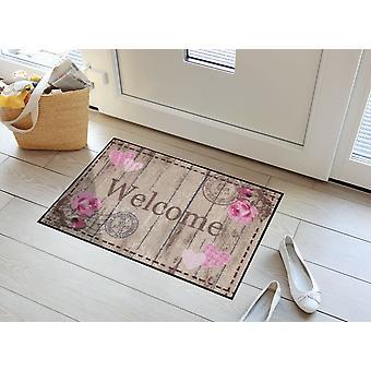 Welkom rozen Salon Loewe wasbaar vloer mat bloem deurmat