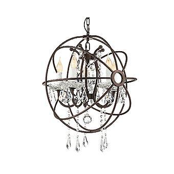 Eglo Fenton antyczne rdza Globe żyrandol żyrandol