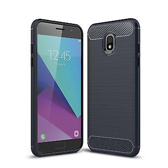 Samsung Galaxy J3 2018 caso silicio blu carbonio Guarda caso TPU telefono caso paraurti