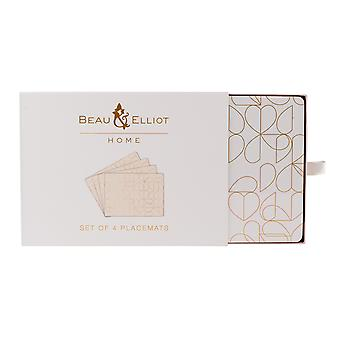 Beau & Elliot Oyster Set of 4 Placemats