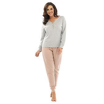 Pijama de senhoras Tom Franks Jersey Marl Design pijama longo Sleepwear