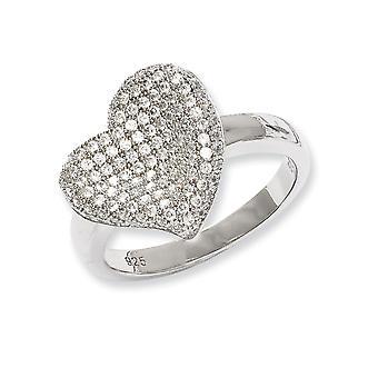 925 Plata de Ley y Zirconia CZ Cubic Zirconia Diamante Simulado Fantasía Pulido Amor Anillo Joyería Regalos para Mujer - Rin