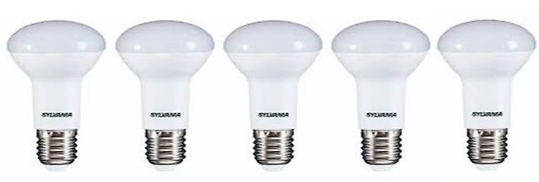 5 x Sylvania RefLED R63 V2 E27 7W Warm White LED 630lm [Energy Class A+]