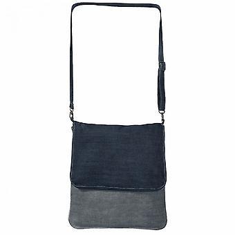 B & C джинсовая сумка через плечо Foldover