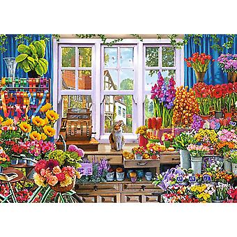 Falcon Deluxe Flora 's Flower Shoppe Jigsaw Puzzle (1000 Pieces)
