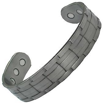 MPS® NORAD Gun Metal Magnetic Bangle med 6 magneter med lyx Present påse