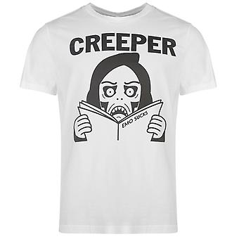 Creeper officiel de Mens T Shirt Crew Neck Tee Top manches courtes coton imprimé